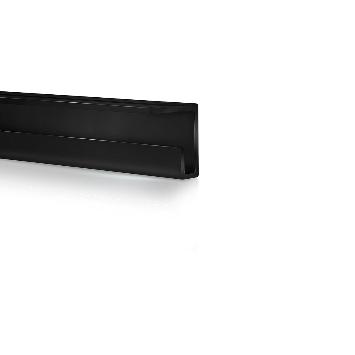 Ceiling Rail System, Black Anodized Finish