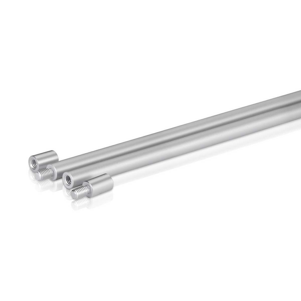 3/8'' Aluminum Clear Anodized 3/8'' Diameter Rod, Length: 36'', Reverse Thread  (Inside use only)