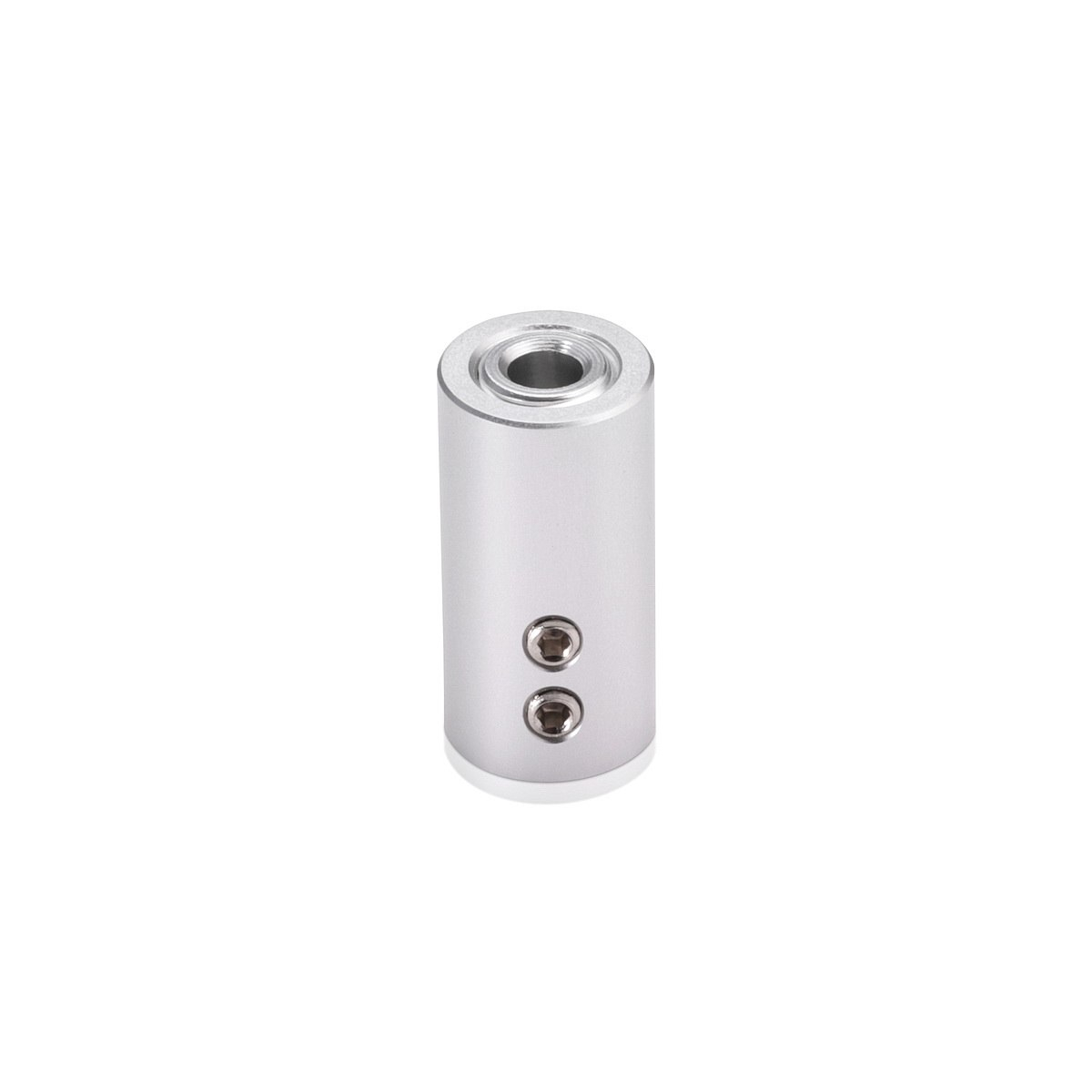 Aluminum Ceiling Mounted Material Holder, Clear Anodized Finish