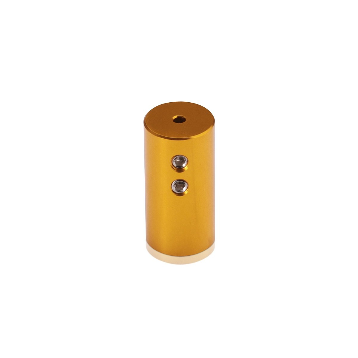 Aluminum Ceiling Mounted Material Holder, Gold Anodized Finish