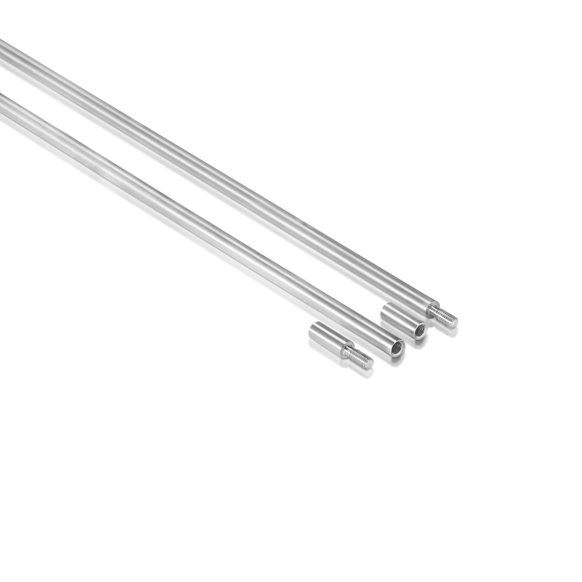1/4'' Aluminum Clear Anodized Rod, Length: 36'' (Inside use only)