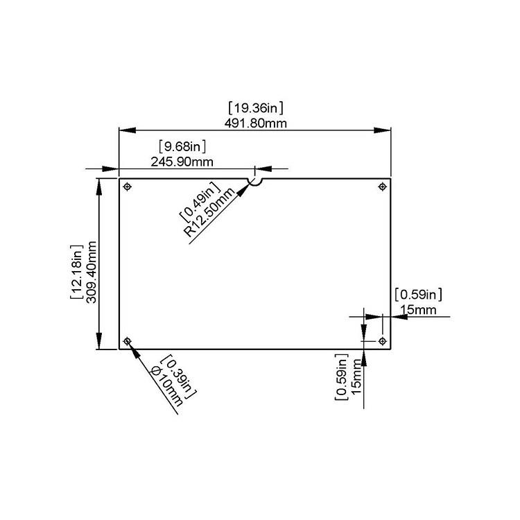 Set of 2 glasses to Insert Horizontal (Landscape) Ledger Paper (17'' x 11'')
