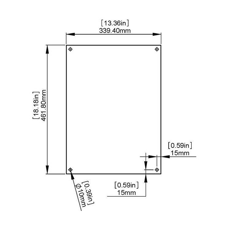 Set of 2 glasses to Insert Vertical (Portrait) Ledger Paper (11'' x 17'')
