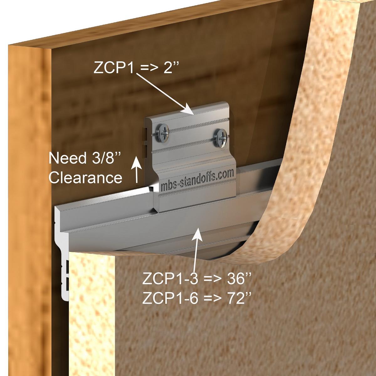 Aluminum Z-Clip 3 ft (36'') Medium to Heavy Duty