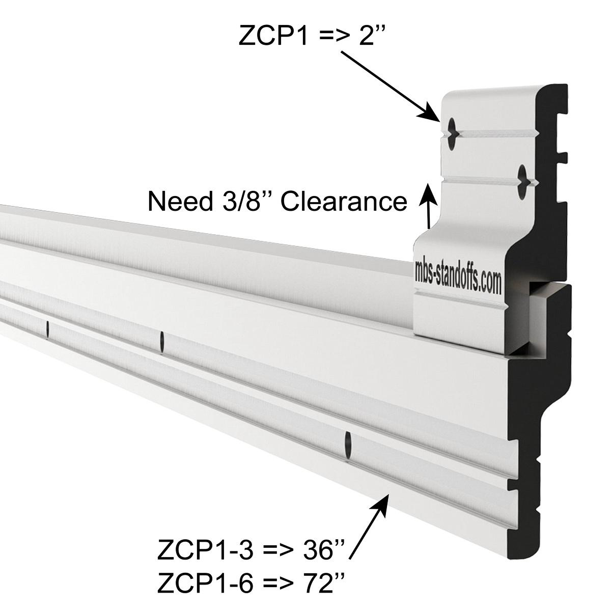 Aluminum Z-Clip 6 ft (72'') Medium to Heavy Duty