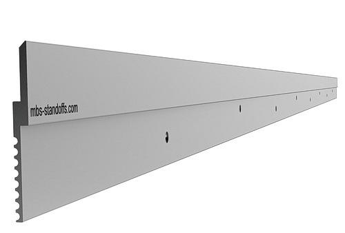 Aluminum Z-Clip 3 ft (36'') 1 1/2'' Light to Medium Duty