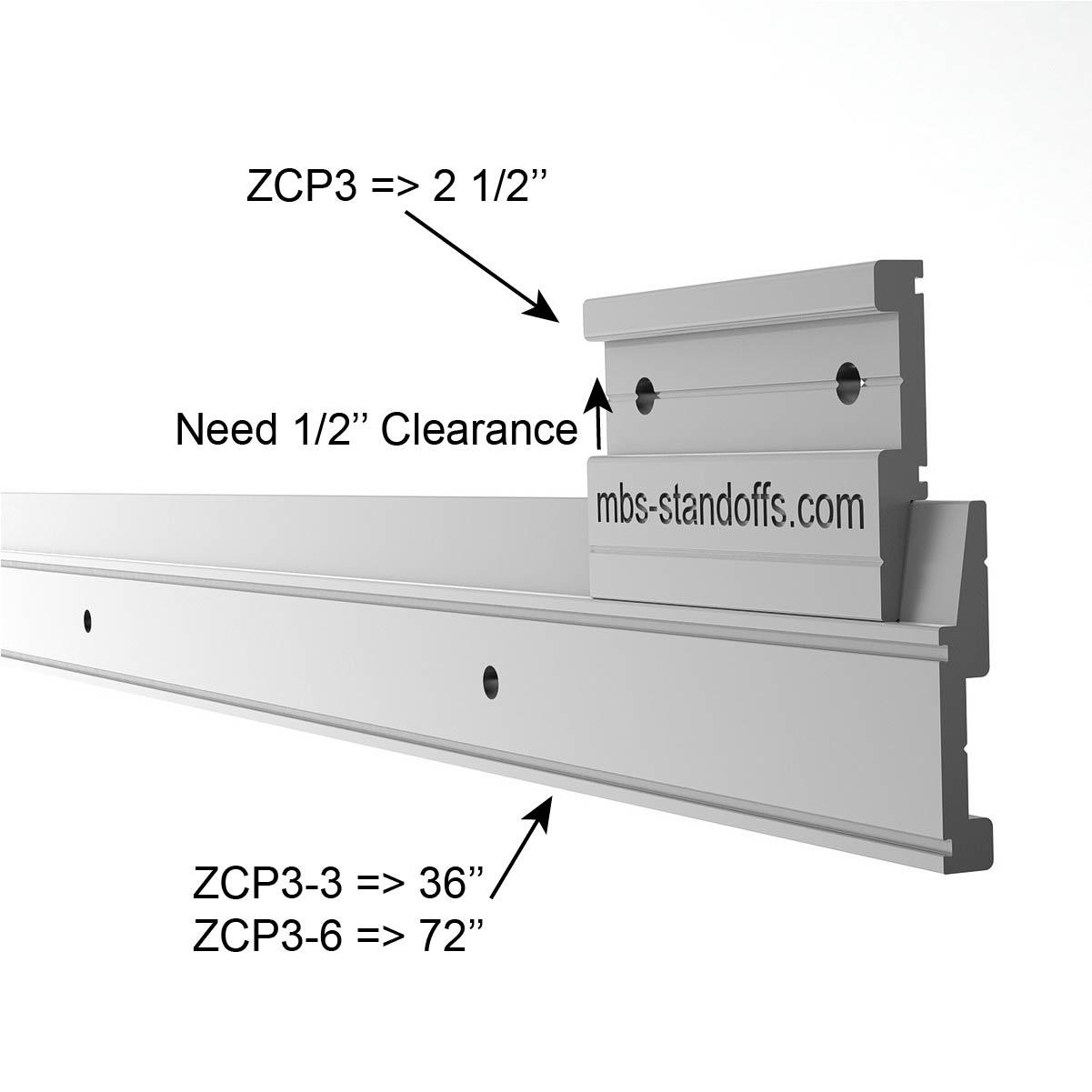 Aluminum Z-Clip 6' (72'') Medium to Heavy Duty
